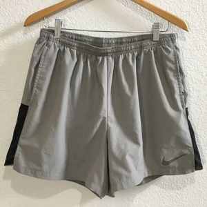 Nike DRI FIT running shorts grey